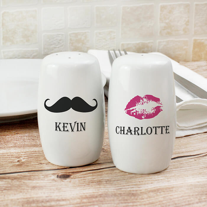 Personalised Moustache Lips Salt And Pepper Set Exactly What I Needed