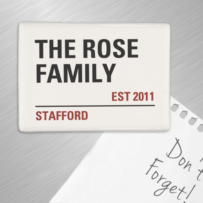 Personalised fridge magnet