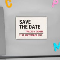 Save the date - personalised magnet