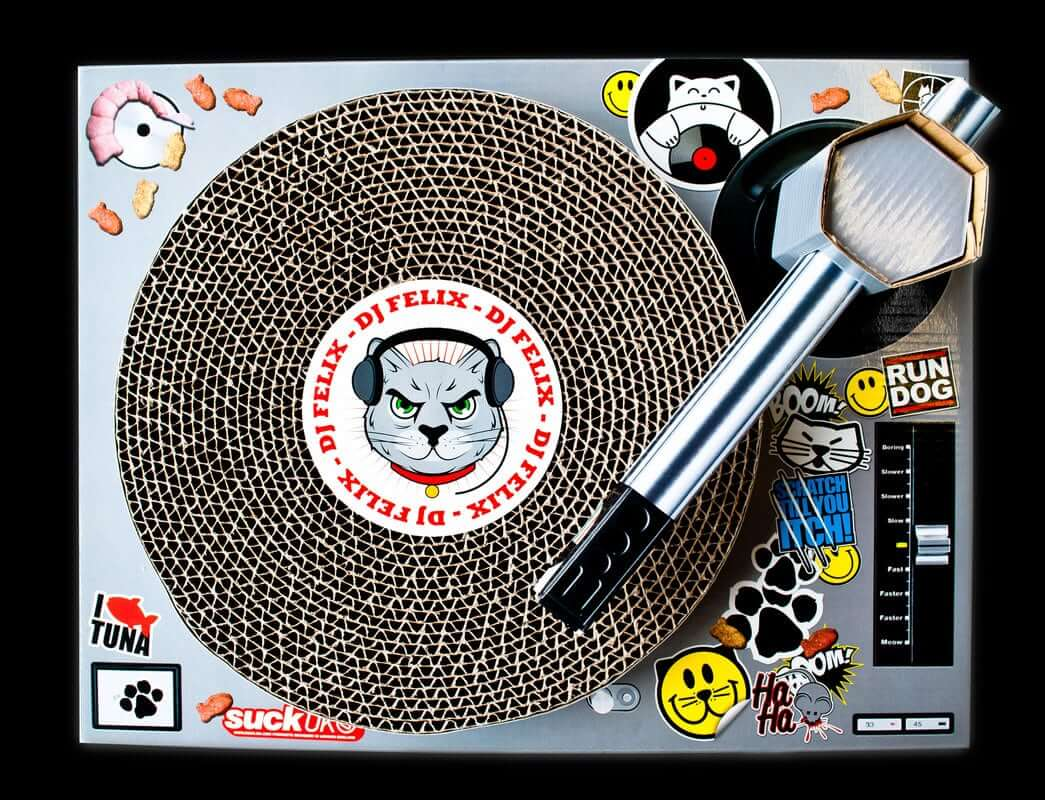Cat Scratchpad Turntable (2)