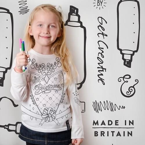 Children's Princess Colouring in longsleeve top