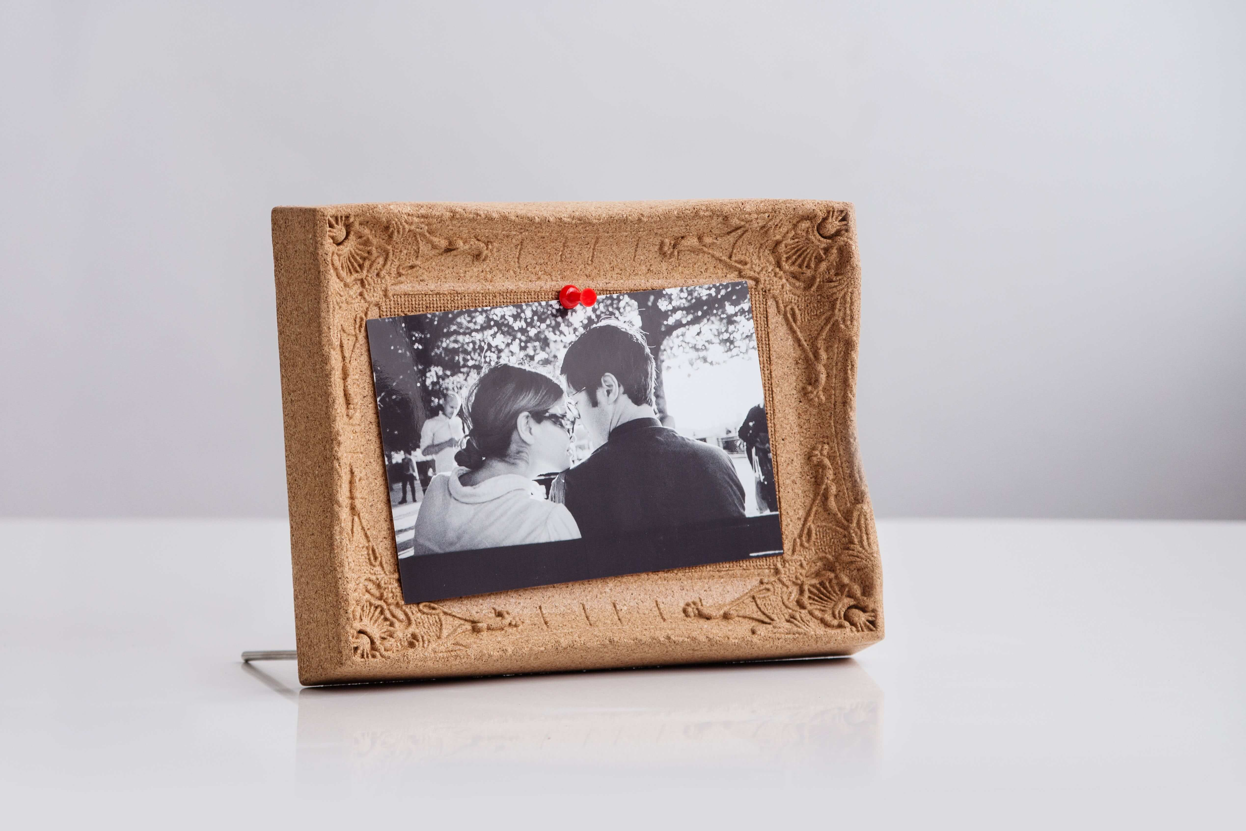 Cork pin board picture frame style