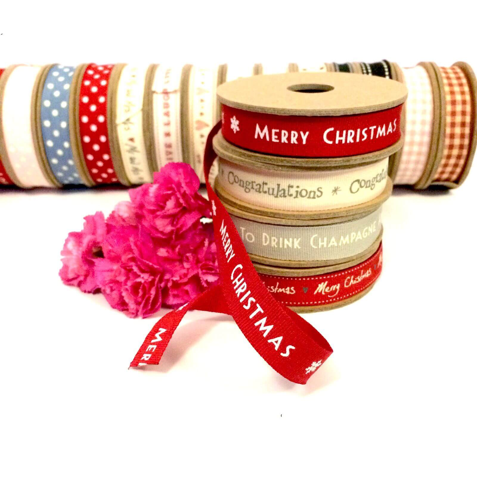 Merry Christmas East Of India Ribbon
