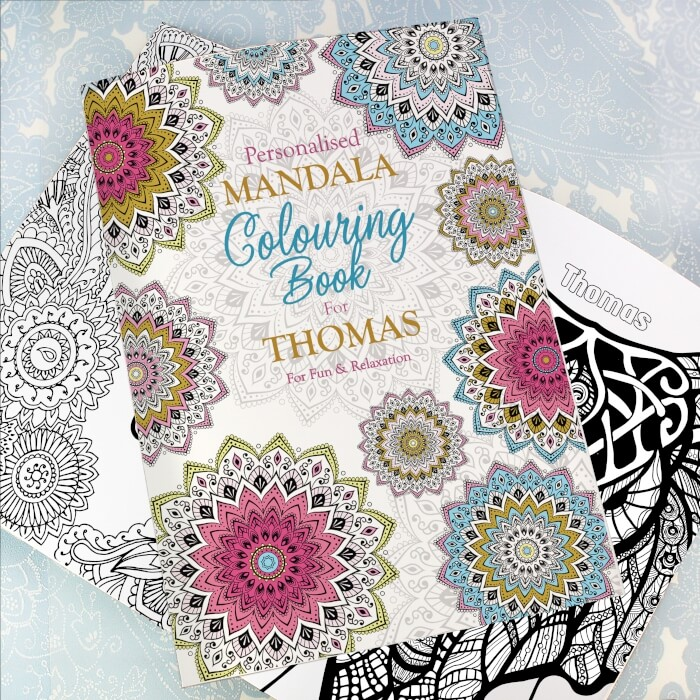 Mandala Colouring Book for Grown Ups Personalised