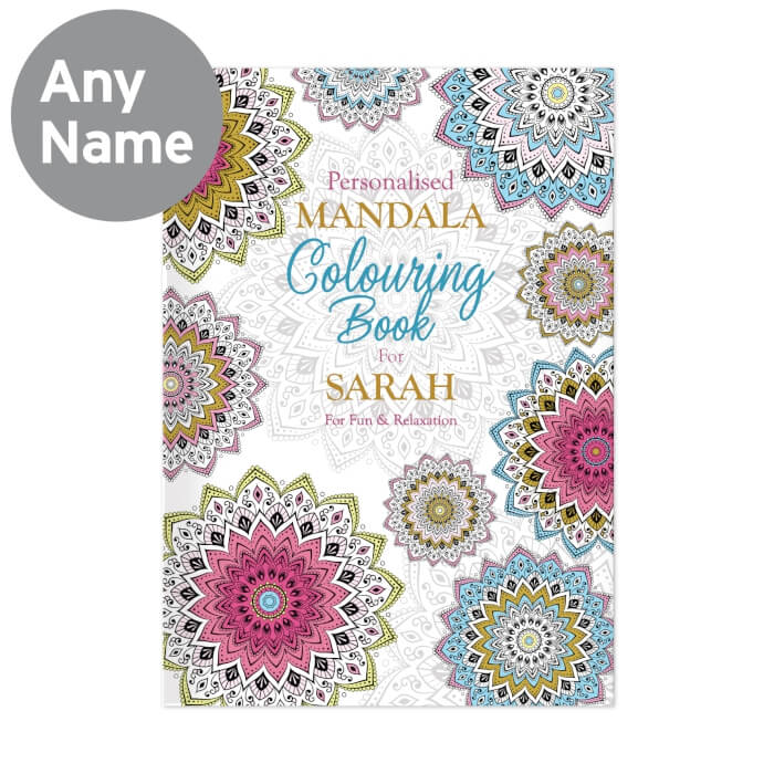 Mandala Personalised Colouring Book for Grown Ups