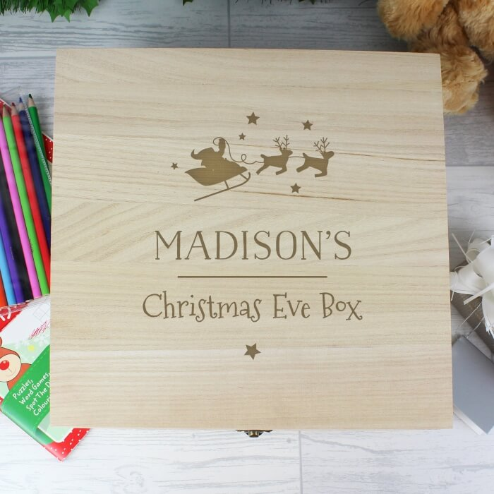 Personalised Christmas Eve Box With Santa and Sleigh