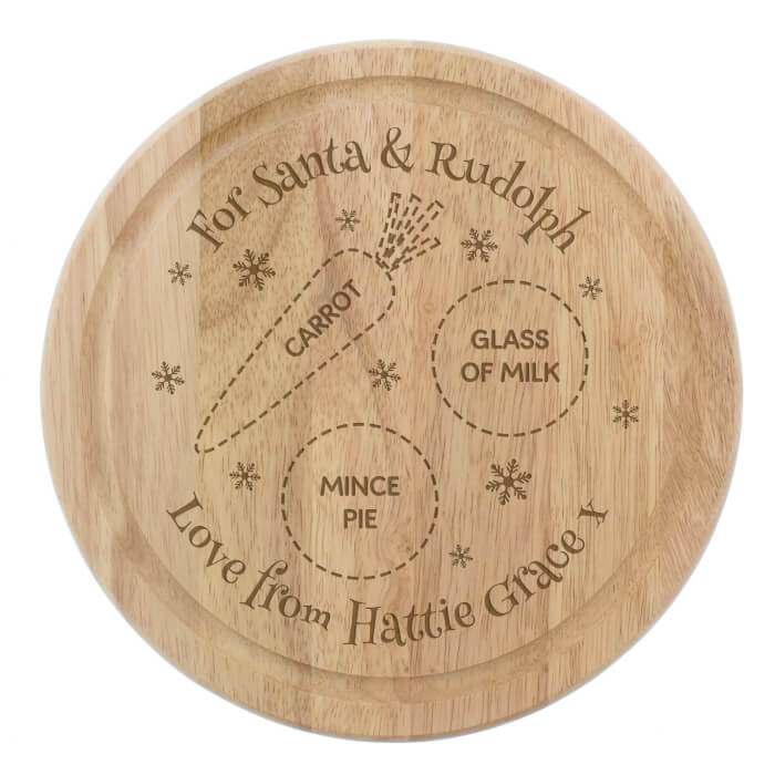 Personalised Christmas Snack Board Rudolph and Santa