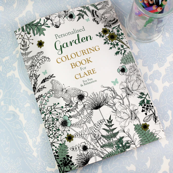 Personalised Grown Up colour in Book Garden flower