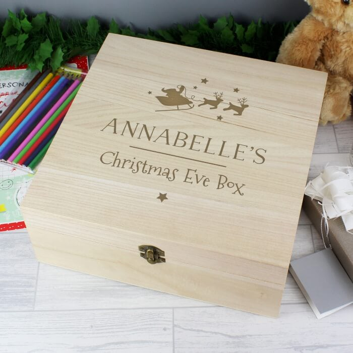 Personalised Large Wood Christmas Box