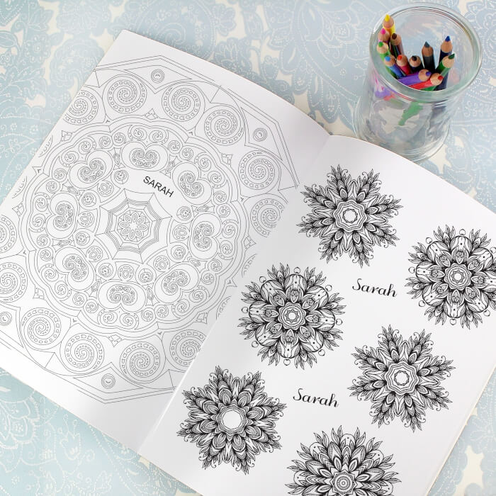 Personlised Colouring Book for Grown Upsv