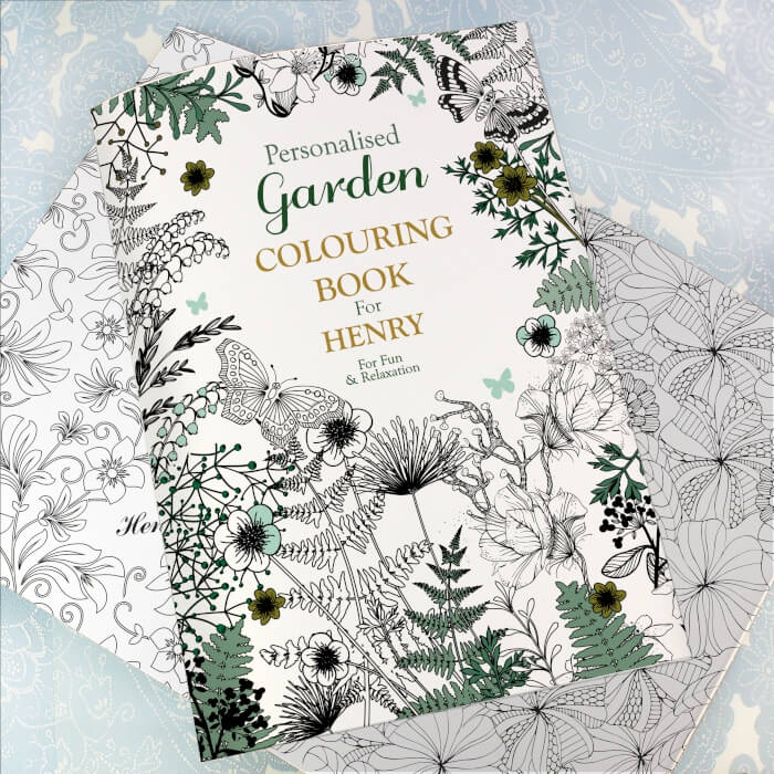 personalised colouring book for adult Gardening theme (1)