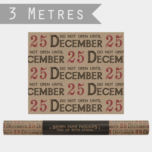 East of India Do not open 25 December Wrapping Paper