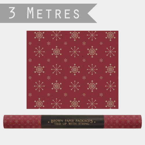 East of India Snowflakes Wrapping Paper