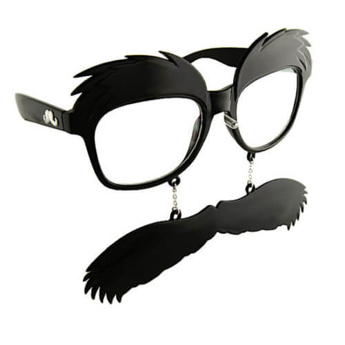 92d28d48fc0 Bushy Eyebrows With Moustache Charm – Clear View Glasses
