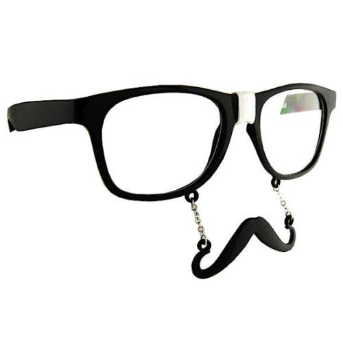 Geek-Moustache-Clear-View-Wayfarer-Style-Glasses-Plaster-Charm-Nerd-Mustache-390614604431