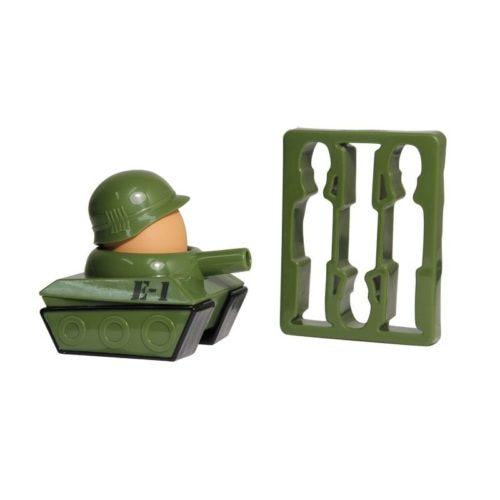 Army-Tank-Egg-Cup-holder-Soldier-Shaped-Toast-Cutter-Boys-Novelty-Secret-Santa-391312624195-2