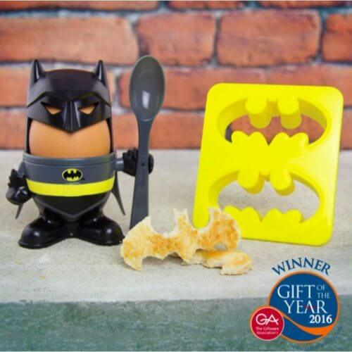 Batman-Egg-Cup-holder-Spoon-Shaped-Toast-Cutter-Boys-Novelty-Secret-Santa-391435472555