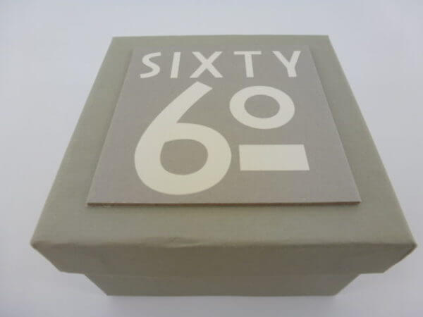 Small Light Grey 60th BirthdayAnniversay Gift Box Number