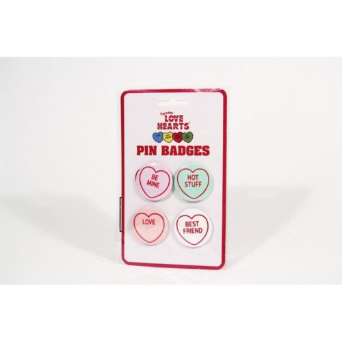 Pack-Retro-LOVE-HEARTS-Metal-Pin-Badges-Hot-Stuff-Be-Mine-Valentines-Button-Set-390748670798