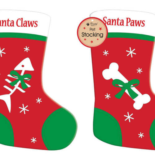 Santa-ClawsPaws-Dog-Cat-Pet-Christmas-Felt-Stocking-Gift-Bags-Tree-Decoration-351559732978